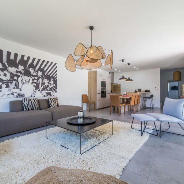 Le salon - Villa Berda à Porto-Vecchio